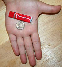 flash drive fits in the palm of your hand!