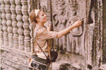 Gail Howard in Cambodia 1965. Gail Howard at Angkor Wat, built in the 12th century.