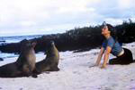 Click to visit Gail Howard's Galapagos Islands travel adventures web site. Gail and her sister, Terry, freely roam the unspoiled Galapagos Islands where birds and sea lions have no fear of man.