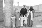 Gail Howard in Morocco 1962. Gail Howard in Marrakech (Marrakesh), Morocco, talking to Muslim women wearing the traditional burqa robe (jilbab) and veil (hijaab).