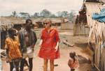 Gail Howard in Togo, West Africa 1968. Gail Howard in a small village in Togo, West Africa.