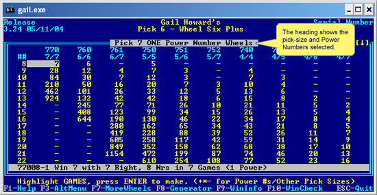Wheel Six Plus Pick-7 Power Number Screenshot