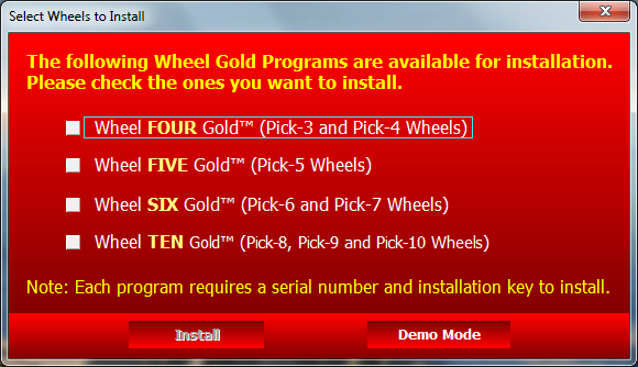 Wheel Gold Demo