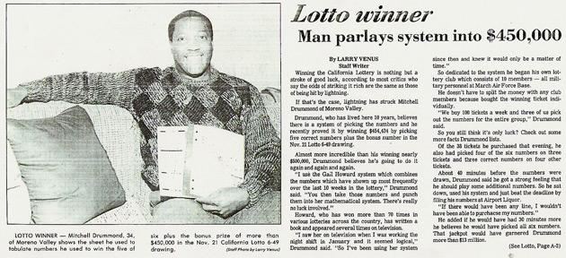 Lottery Jackpot Winners: $450,000 JACKPOT WON IN CALIFORNIA