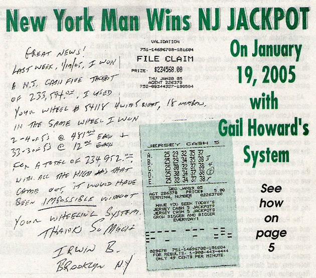 NJ Cash Five $233,594 Jackpot Won