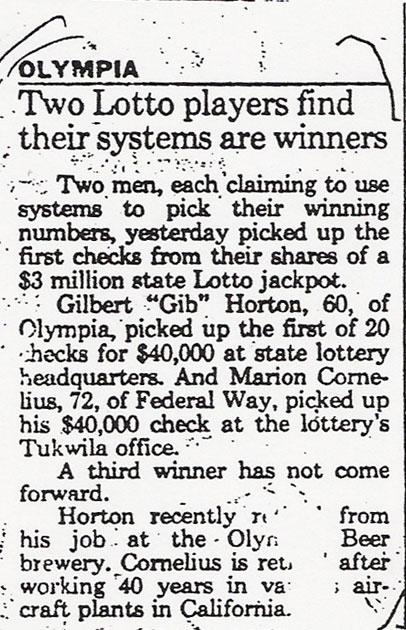How to Win the Washington Lottery