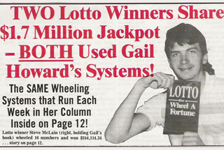Gail Howard has 2 lotto winners that split a jackpot