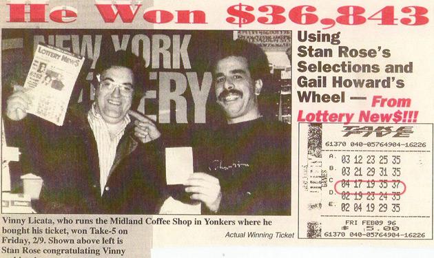 nys lottery take 5 winners