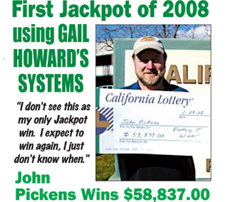 Gail Howard's California Fantasy 5 Jackpot Winner