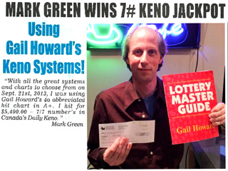 Mark Green Keno Winner 2014